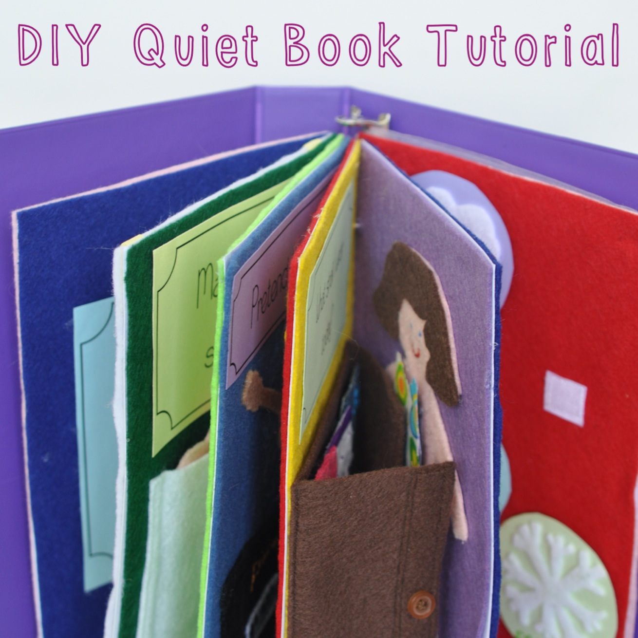 Busy Book Cover Tutorial ~ Sew lah tea dough a book for you to play and do
