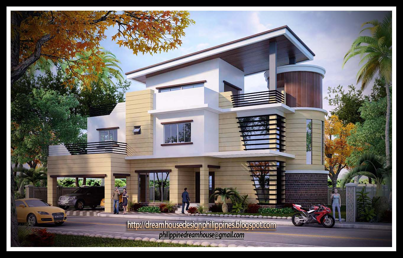 Small two storey house design with terrace in the for House design philippines