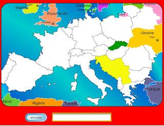 Carte De Leurope Jeux Educatifs.Cahier De Vacances Jeu Educatif Gratuit Sur L Europe