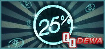 Bonus Tambahan 25%