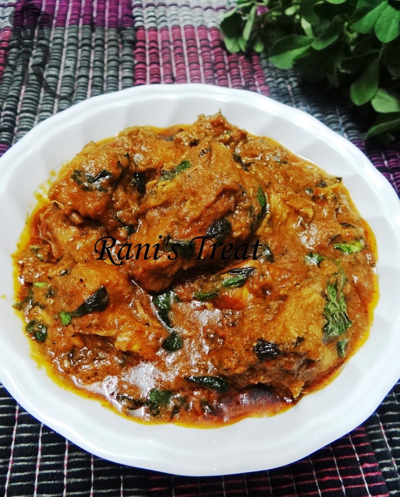 Rani's Treat: Murgh Methi | Chicken & Fenugreek Leaves Gravy