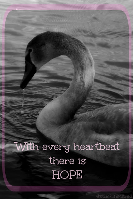 """With every heartbeat there is Hope."" via @stuckinscared 