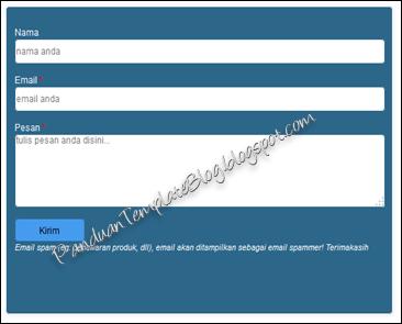 Mengganti Tampilan Formulir Kontak dg CSS