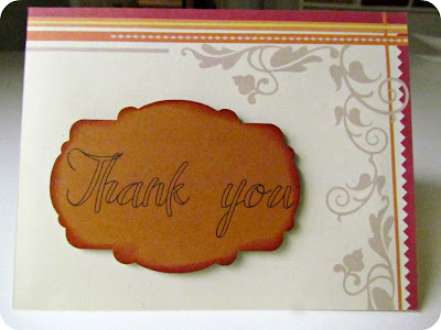 masculine card, thank you card, simple card