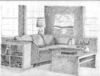 Living room sketch by IYDG