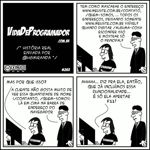 vida de programador tecla f11
