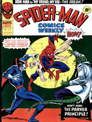 Spider-Man Comics Weekly #143, Morbius and the Lizard