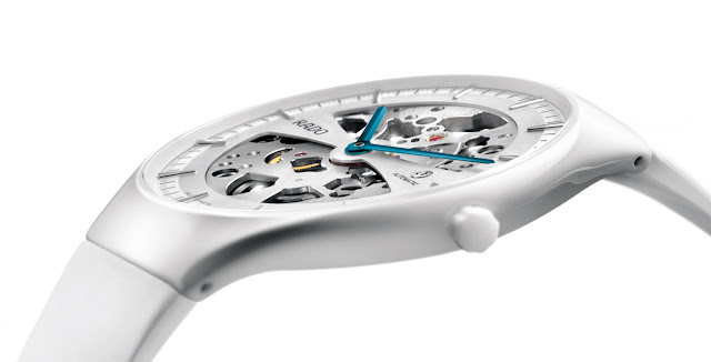 RADO True Thinline Automatic Skeleton – White Rubber