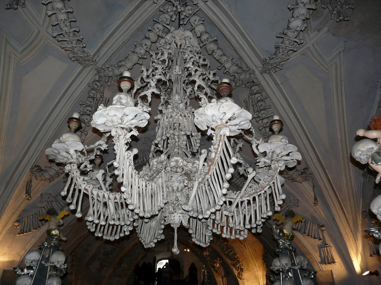 The big adventure life in holland the bone church this bone chandelier contains every bone in the human body wouldnt you like to have this chandelier light up the entry way in your house aloadofball Image collections