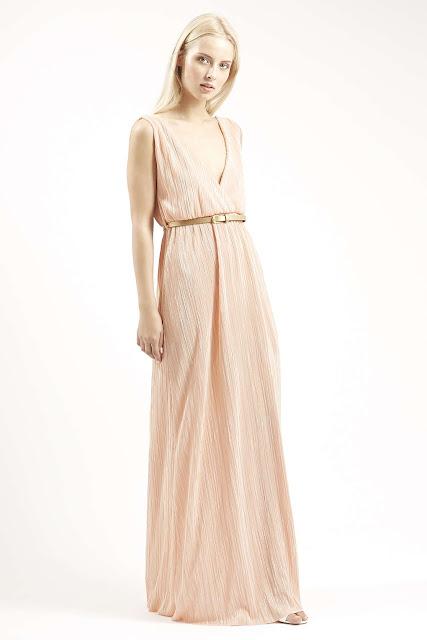 peach maxi dress,