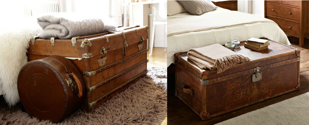 top les malles de voyage apportent un style vintage la dco appropries pour un intrieur vintage. Black Bedroom Furniture Sets. Home Design Ideas