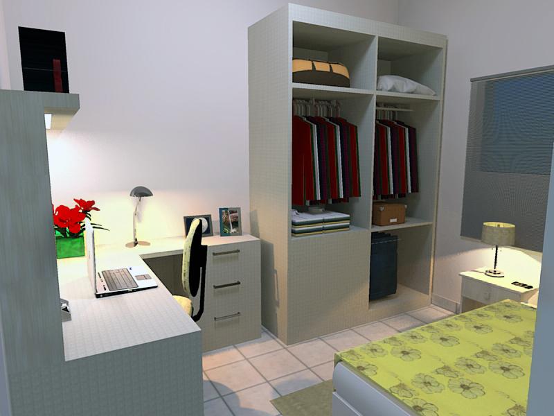Quarto De Hóspede ~ Design Acessível Quarto de Hóspede home office
