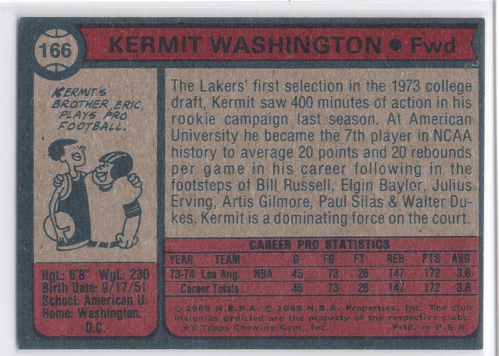 Screaming Line Drive Kermit Washington American University s