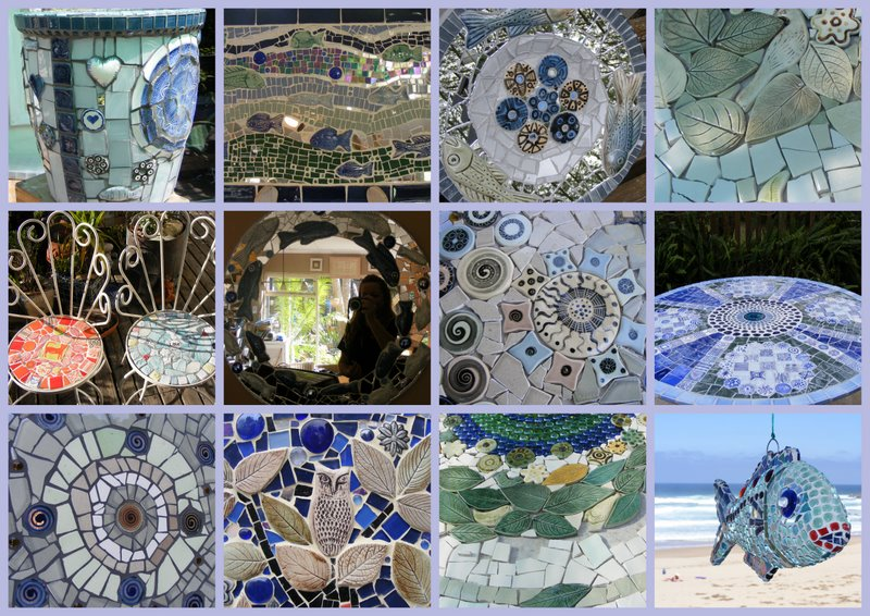 How to mosaic and make beautiful objects for home and for Garden mosaics designs