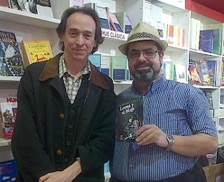 """Alejandor Alonso, autor de """"Lorena y el mago"""", en la Feria del libro infantil."""