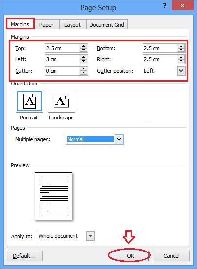 [Office tips] - Cách căn lề trong Word 2003 - 2007 - 2010 - 2013
