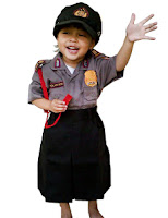 kostum profesi polwan untuk anak