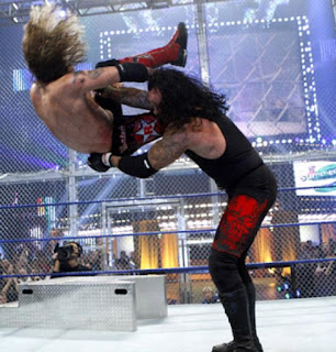 WWE SummerSlam Undertaker chokeslam Edge Hell in a Cell Steel Steps
