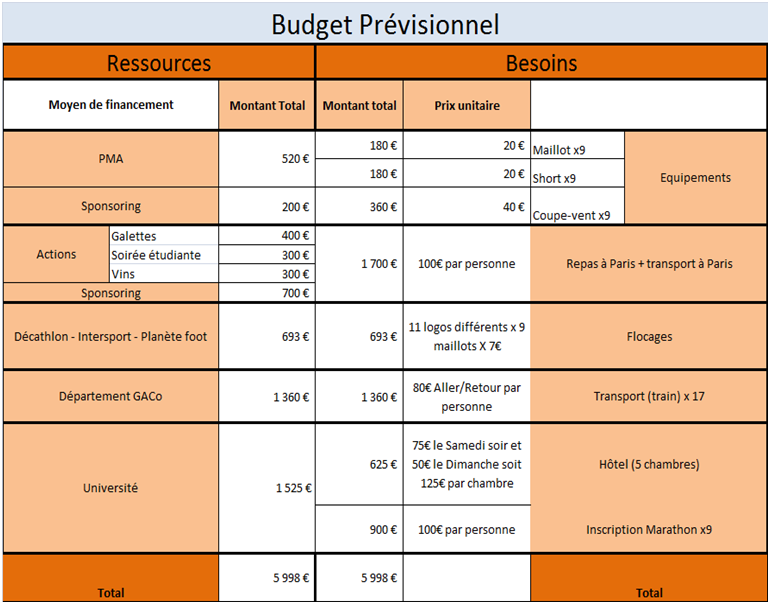 Exemple Budget Previsionnel Deplacement