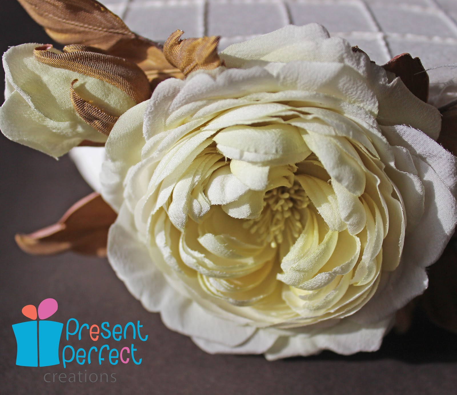 Present Perfect Creations A Pillbox Hat With Silk Roses