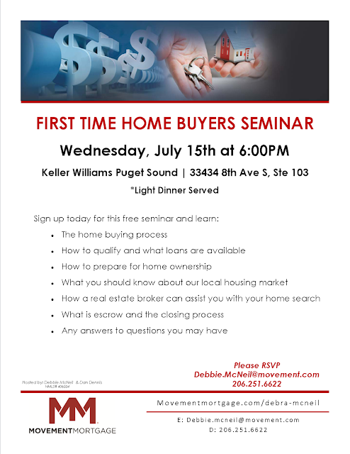 first time home buyers seminar wednesday july 15th