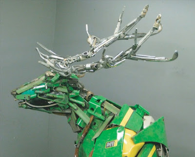 Scrap Metal Sculptures by Robert Jefferson Travis Pond Seen On www.coolpicturegallery.us