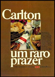 propaganda antiga; cigarros souza cruz; propaganda cigarros Carlton - 1977. propaganda anos 70; história decada de 70; reclame anos 70; propaganda cigarros anos 70; Brazil in the 70s; Oswaldo Hernandez;