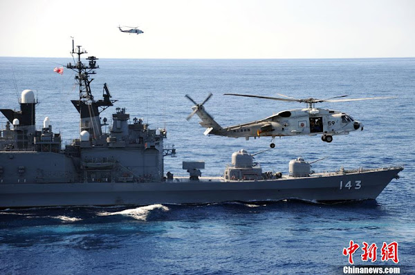 Prospect of war loomed across the East China Sea as Japan and the U.S. held the largest Island combat exercises on 23 Jan 2013. (Source: CNS)