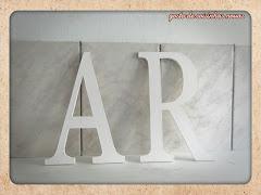 letras com 30cm de altura
