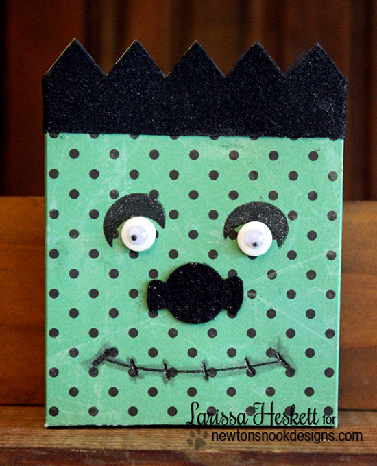 Halloween Frankenstein treat Holder by Larissa Heskett for Newton's Nook Designs
