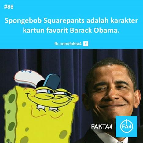SpongeBob Squarepant adalah karakter kartun favorit Barack Obama