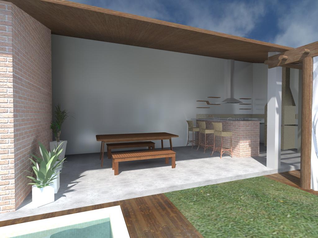 #49607F Reforma   Ampliação Área de Lazer ~ arquitetura 1024x768 px projeto banheiro 3x2