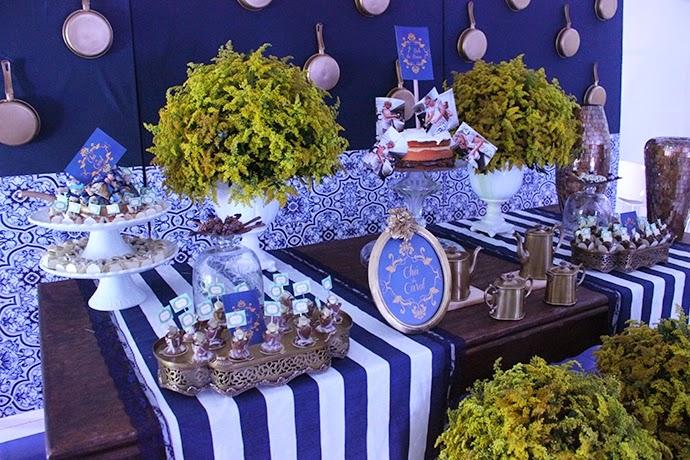 decoracao de festa azul marinho e amarelo:Para completar, as convidadas levaram uma folha de scrapbook decorada