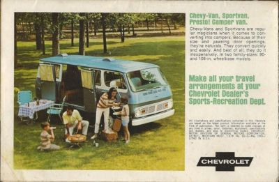 Print advertising for 1967 Chevy van