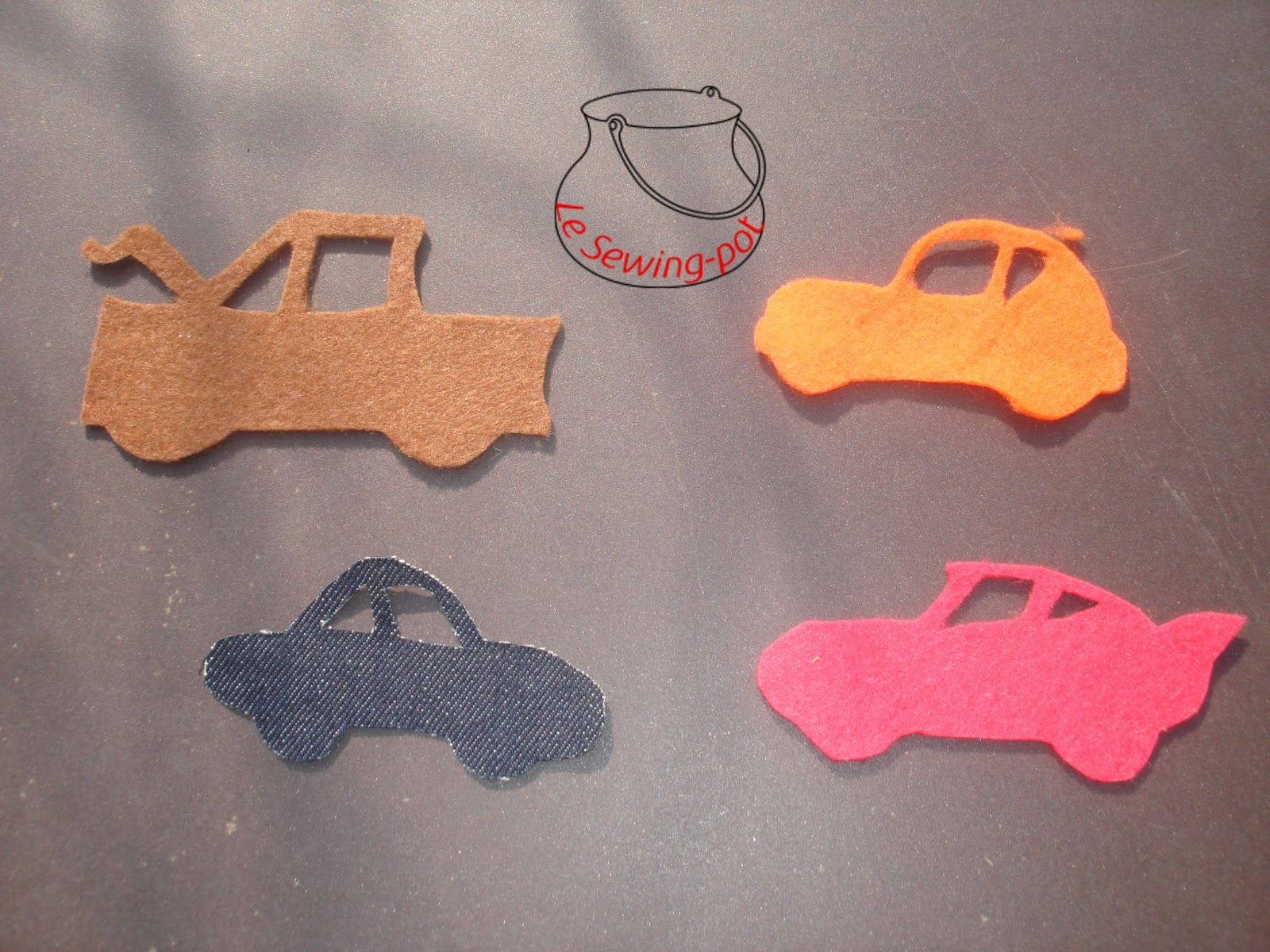 cars feutrine décoration felt decoration fix wall fixer mur