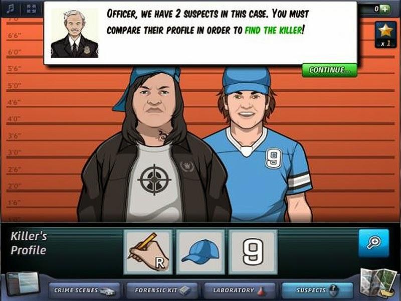 Gambar Aksi Criminal Case saat mewancarai Saksi Mata