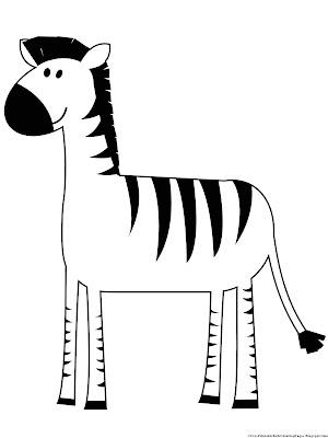 Zebra Coloring Image