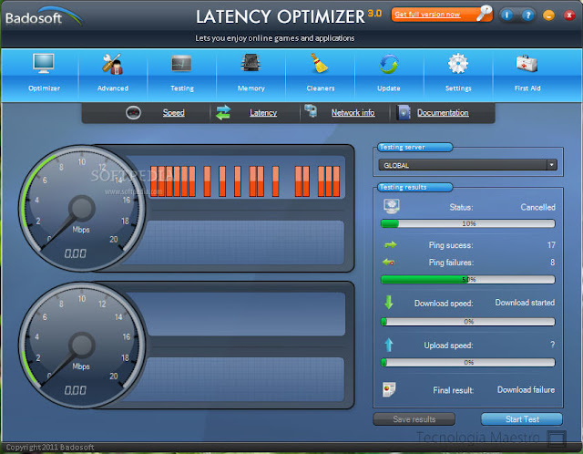 Latency Optimizer es un software para mejorar el lag del internet