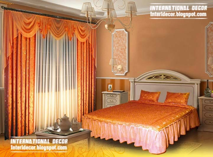 orange curtains for bedroom curtain ideas for bedroom