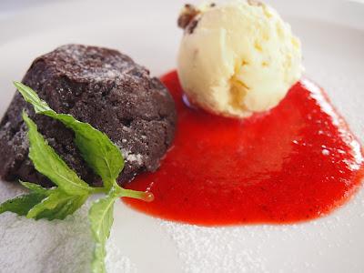 Chocolate dessert from Medininkai Restaurant in Vilnius, Lithuania