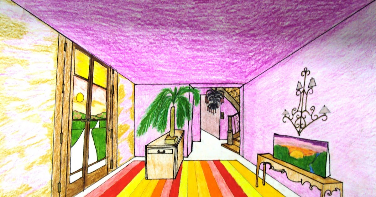 Art 1: One Point Perspective Room