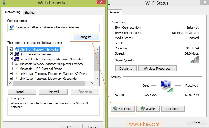 Sửa lỗi Wifi Windows 8 7