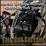 tail end customs - custom metric bobbers, choppers, and parts