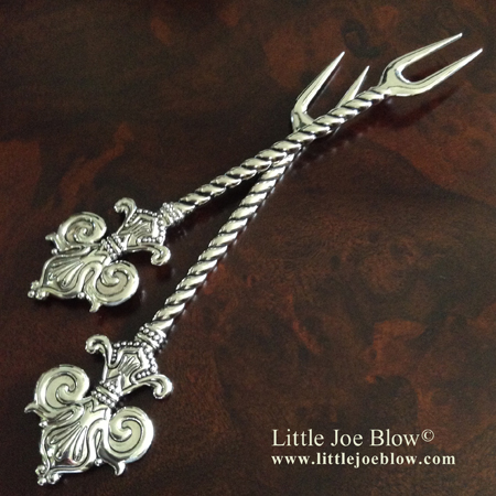 Fleur De Lis Cocktail Forks sold by Little Joe Blow photo 1