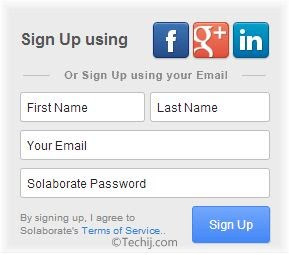 Solaborate signup