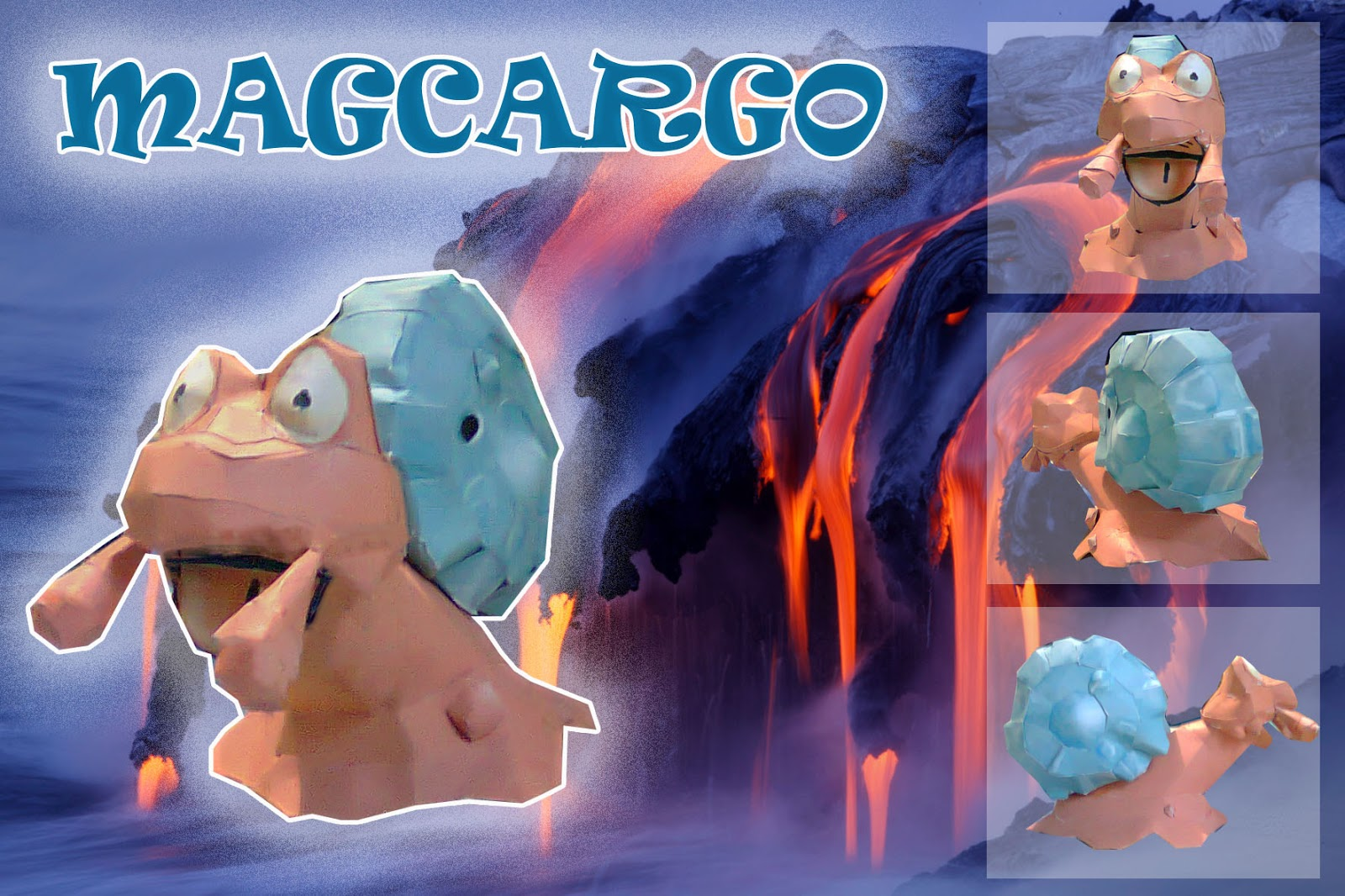 Pokemon Magcargo Papercraft