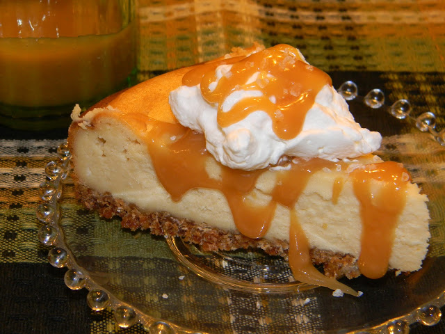 ... and More, Bailey's Irish Cream Cheesecake with Salted Caramel Sauce