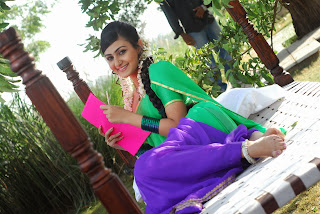Actress Neelam Upadyaya Latest  Pictures in Green Saree  0016.jpg