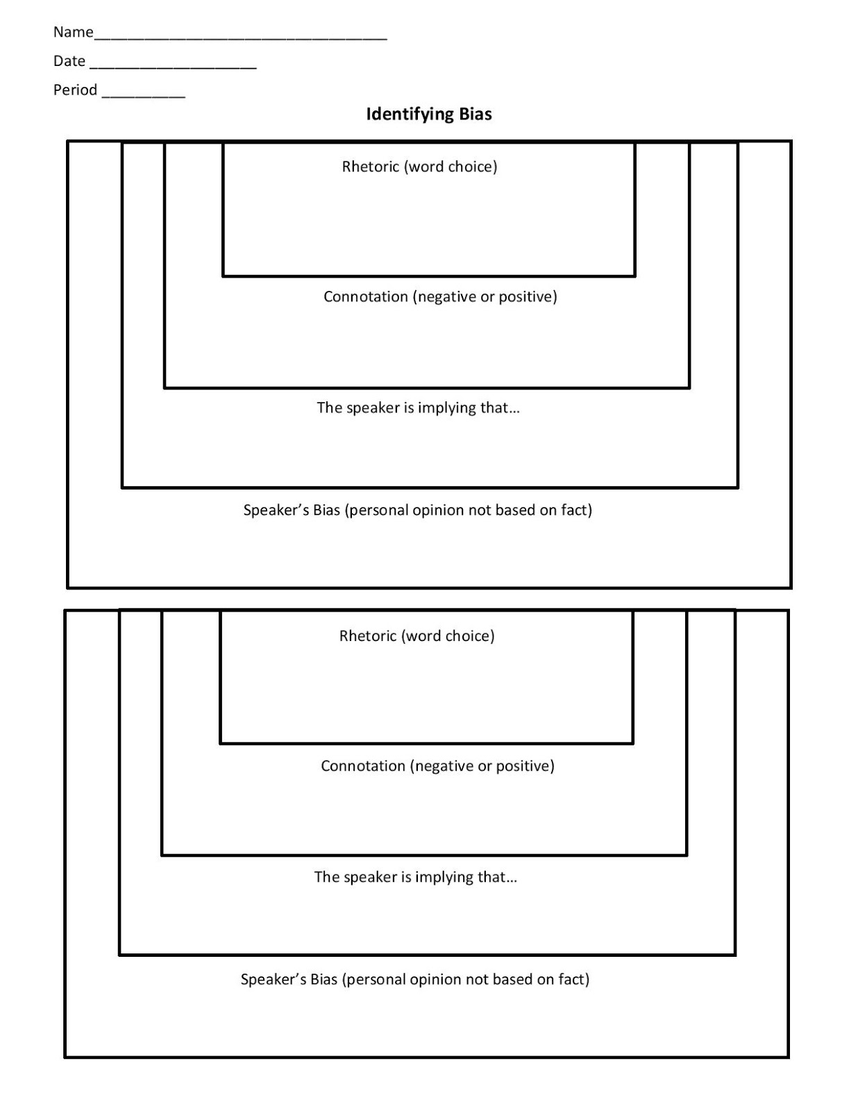 worksheet Fact Opinion Bias Worksheet miss k s english 9 identifying bias thinking map x2 x2