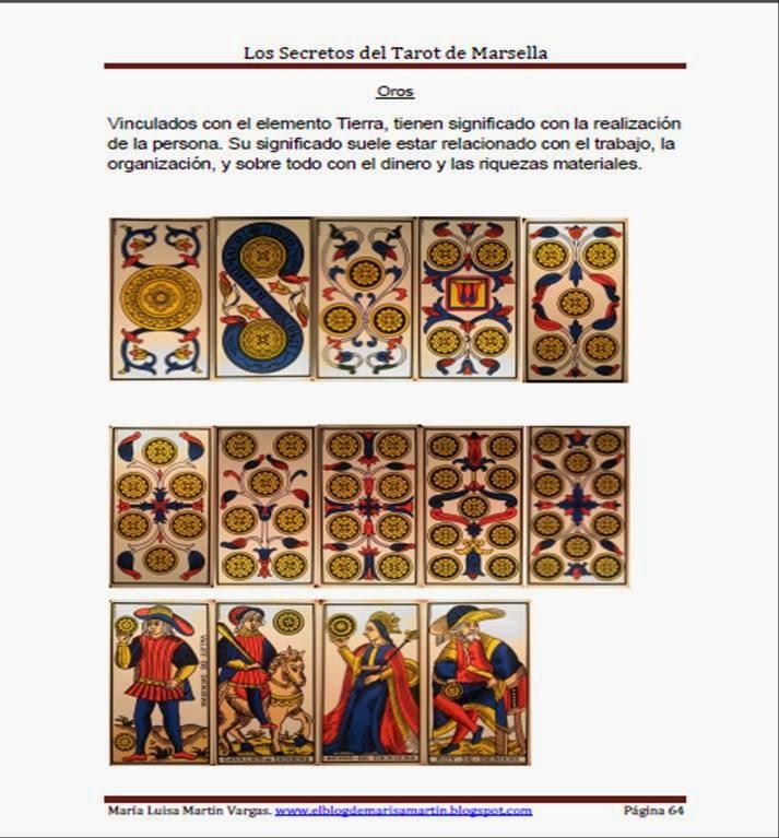 Página del libro Los Secretos del Tarot de Marsella